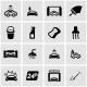 Vector Black Car Wash Icon Set - GraphicRiver Item for Sale