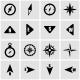 Vector Black Compass Icon Set - GraphicRiver Item for Sale