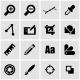 Vector Black Graphic Design Icon Set - GraphicRiver Item for Sale