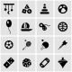 Vector Black Toys Icon Set - GraphicRiver Item for Sale