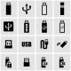 Vector Black Usb Icon Set - GraphicRiver Item for Sale