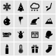 Vector Black Winter Icons  Set - GraphicRiver Item for Sale