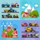 Download Vector Farm Orthogonal Flat 2X2 Icons Set