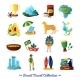 Brazilian Culture  Symbols Flat Icons Set