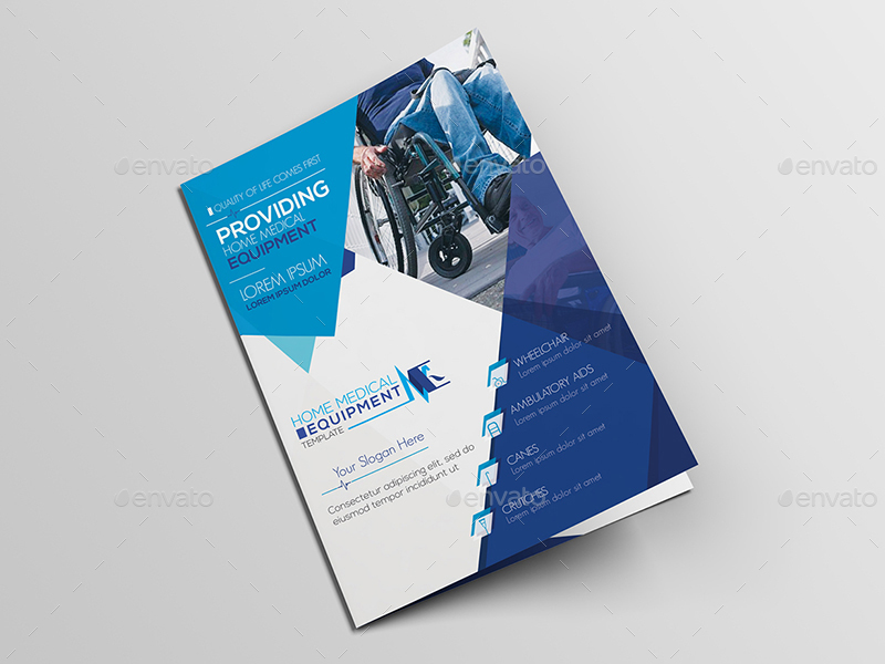 Home Medical Equipment A Brochure Template By Wutip GraphicRiver - A5 brochure template