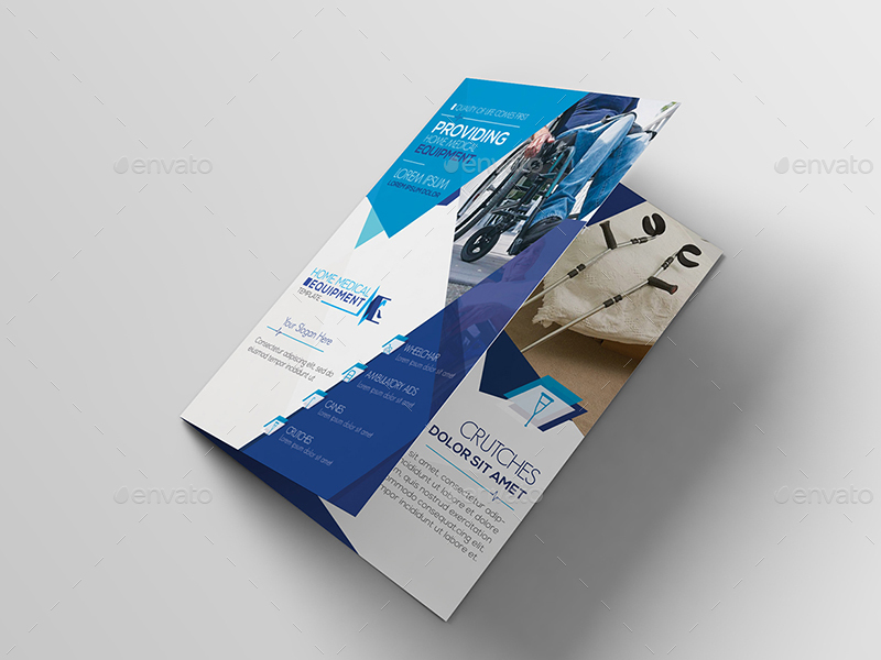 01_Home Medical Equipment A5 Brochure Template ...