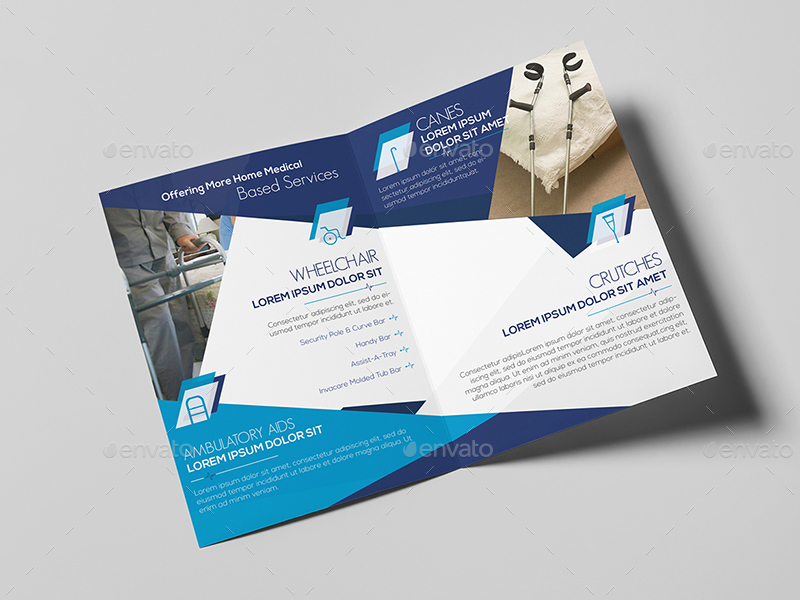 Home Medical Equipment/ A5 Brochure Template by wutip2 | GraphicRiver