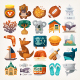 Stickers with Sights and Famous Elements of Australian Continent - GraphicRiver Item for Sale