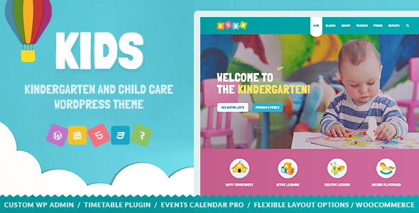 Kids – Day Care & Kindergarten WordPress Theme for Children