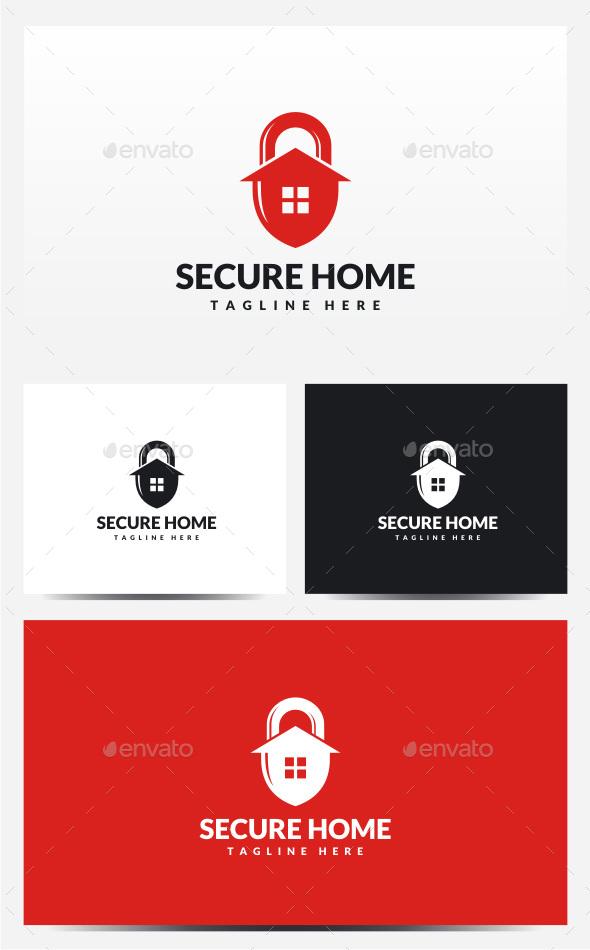 Secure Home Logo - Symbols Logo Templates