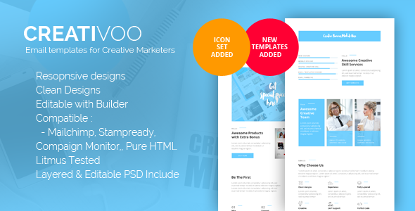 Creativoo - Creative Business Email Template - Newsletters Email Templates