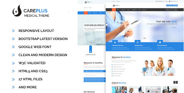 Careplus – HTML5 Medical Template