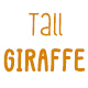 Tall Giraffe Font - GraphicRiver Item for Sale