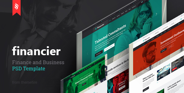 Financier - Finance & Business PSD Template - Business Corporate
