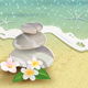 Beach with Stones and Flowers - GraphicRiver Item for Sale