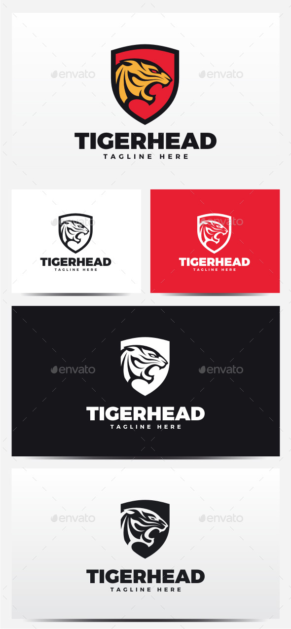 Tiger Head Logo - Animals Logo Templates