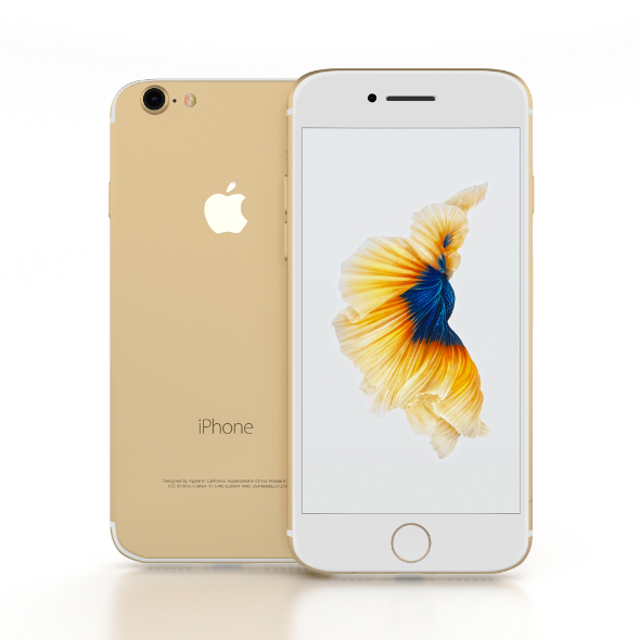 iPhone 7 Gold - 3DOcean Item for Sale