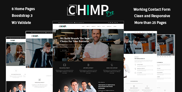 Chimp Pro Multipurpose Creative Business – Ajency – Corporate Template