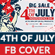 4th of July Facebook Cover - 4 Designs - Images Included - GraphicRiver Item for Sale