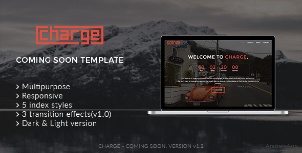 Charge – Coming soon template