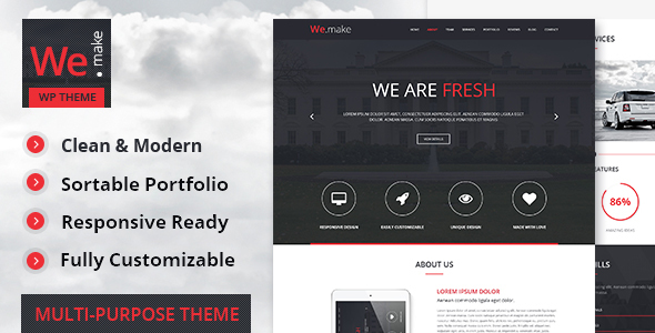 We.Make - Responsive WordPress Theme