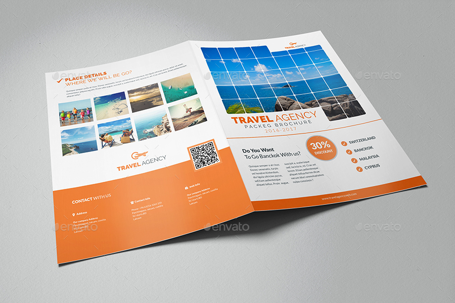Travel Agency Bifold Brochure Template By Al Mamun Graphicriver