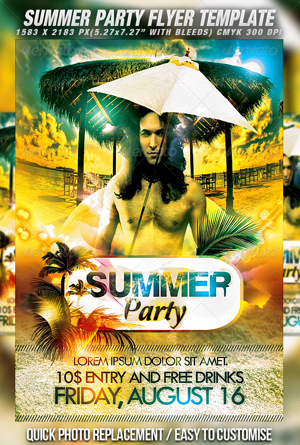 summer party flyer by mexelina graphicriver