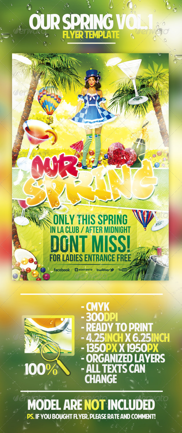 Our Spring Vol.1 Flyer Template