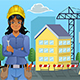 Contractor in Front of a House - GraphicRiver Item for Sale