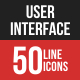 User Interface Filled Line Icons