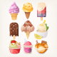 Set of Colorful Ice Cream - GraphicRiver Item for Sale