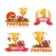 Football Banner Set with Ball and Goblet - GraphicRiver Item for Sale
