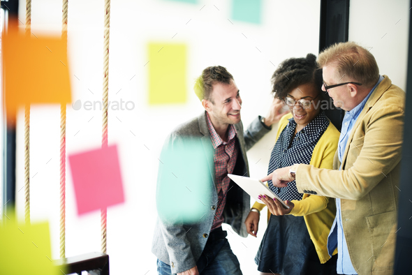 Brainstorming Discussion Communication Plan Concept - Stock Photo - Images