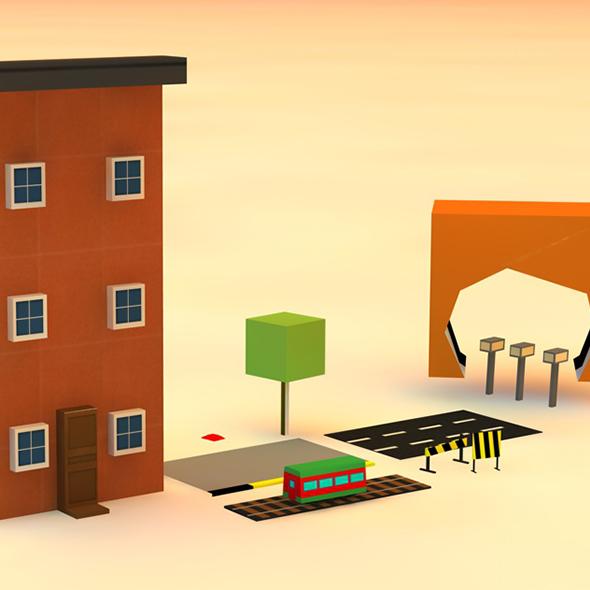 City Props for Endless Runner Mobile Optimized - 3DOcean Item for Sale