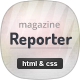 Reporter - News & Magazine HTML Template Nulled