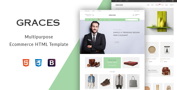 Graces – Multipurpose eCommerce HTML Template