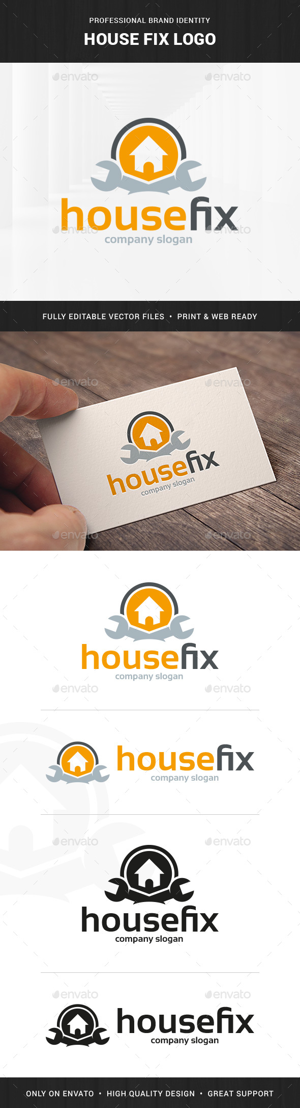 House Fix Logo Template - Buildings Logo Templates