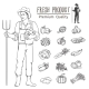 Vegetables and Farmer - GraphicRiver Item for Sale