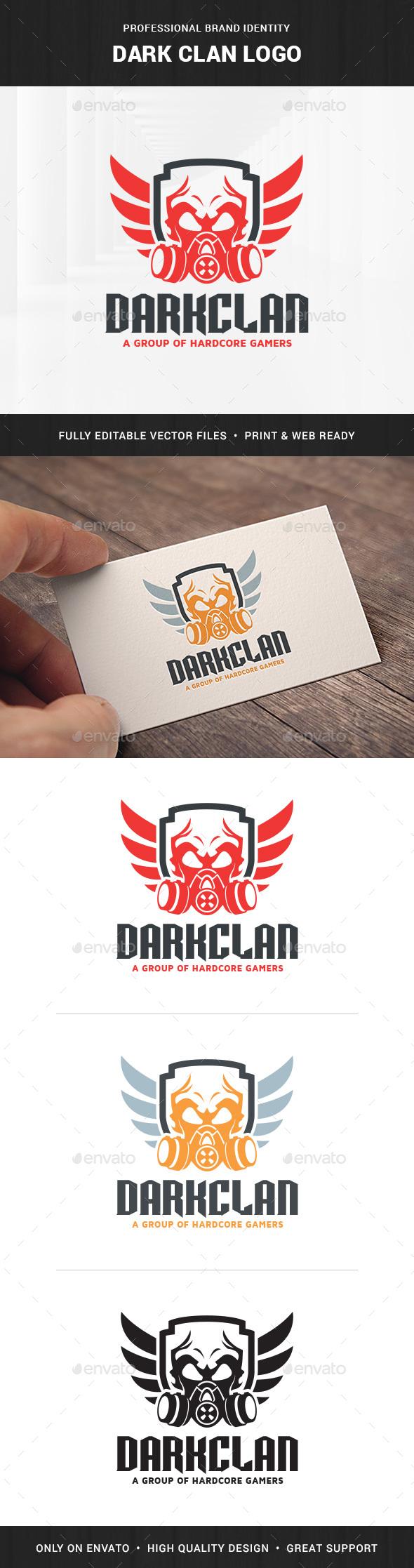 Dark Clan Logo Template - Objects Logo Templates