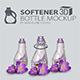 3D Softener Bottle Mockup
