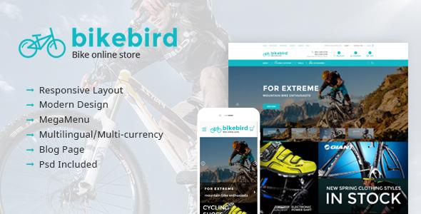 BikeBird – Responsive Bike Store Magento theme