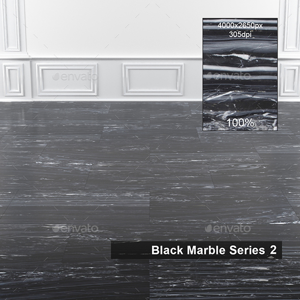 Black Marble Texture 2 - 3DOcean Item for Sale