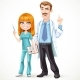 Doctor Mustached Man in a White Medical Coat - GraphicRiver Item for Sale