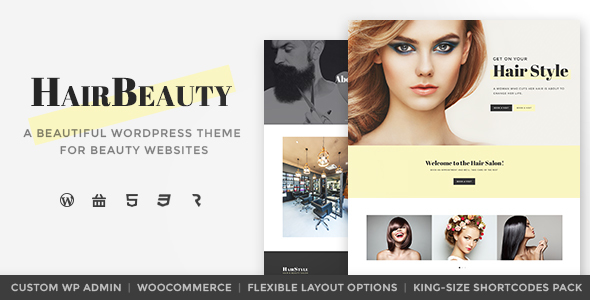 Hair Beauty - Hairdresser, Barber and Hair Salon WordPress Theme