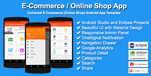 E Commerce Online Shop App Codecanyon Item For Sale
