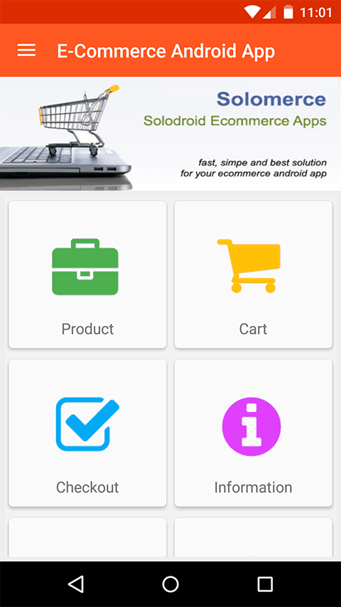 Android shopping cart source code download