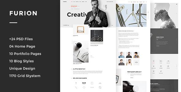 Furion - Creative PSD Template - Portfolio Creative
