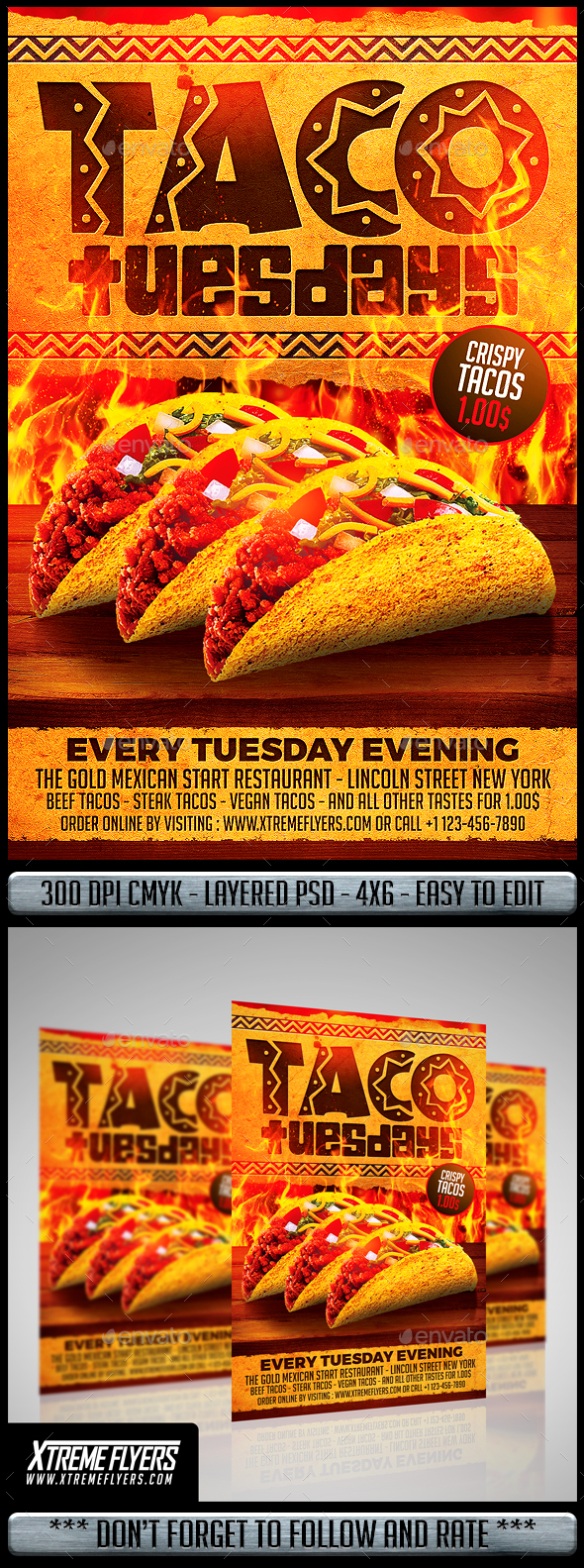 Taco Tuesdays Flyer Template by MatteoGianfreda | GraphicRiver