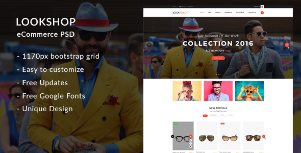Lookshop – eCommerce PSD Template