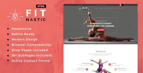 Fitnastic | Sports, Health, Gym & Fitness HTML Template - Health & Beauty Retail